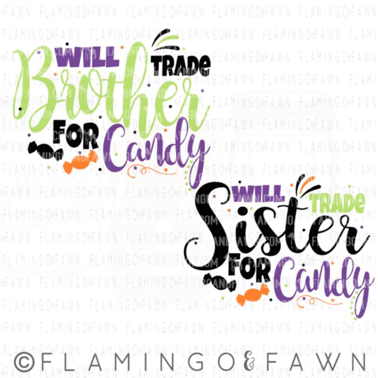 will trade sister for candy svg