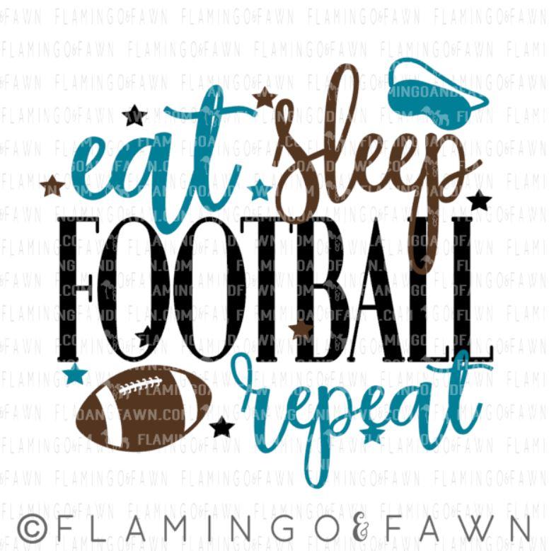 eat sleep football svg