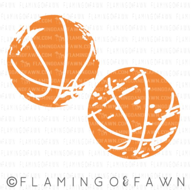 distressed basketball svg