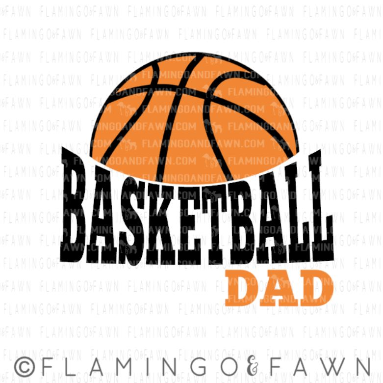 basketball dad svg