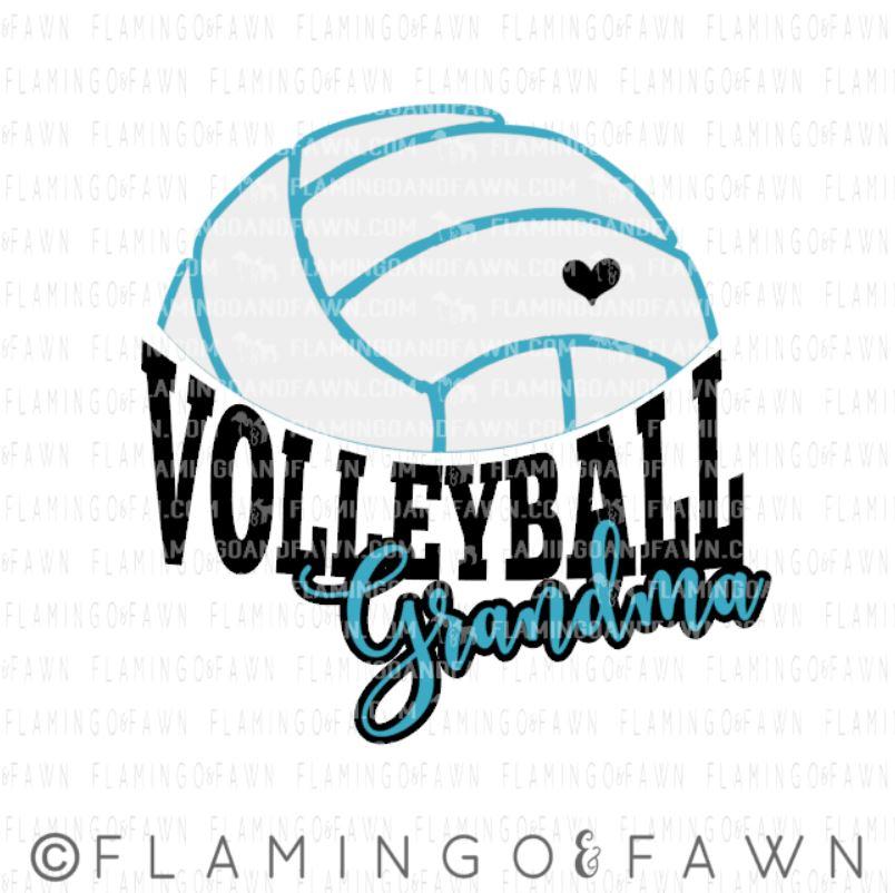 volleyball grandma svg