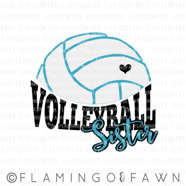 volleyball sister svg