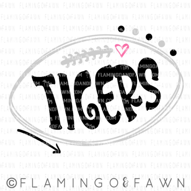 tigers football svg