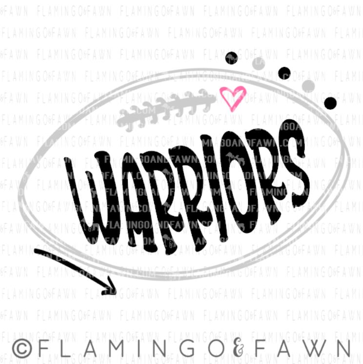 warriors football svg