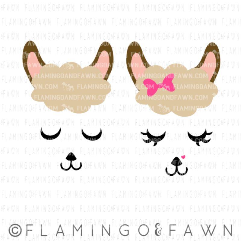 llama face svg cut file