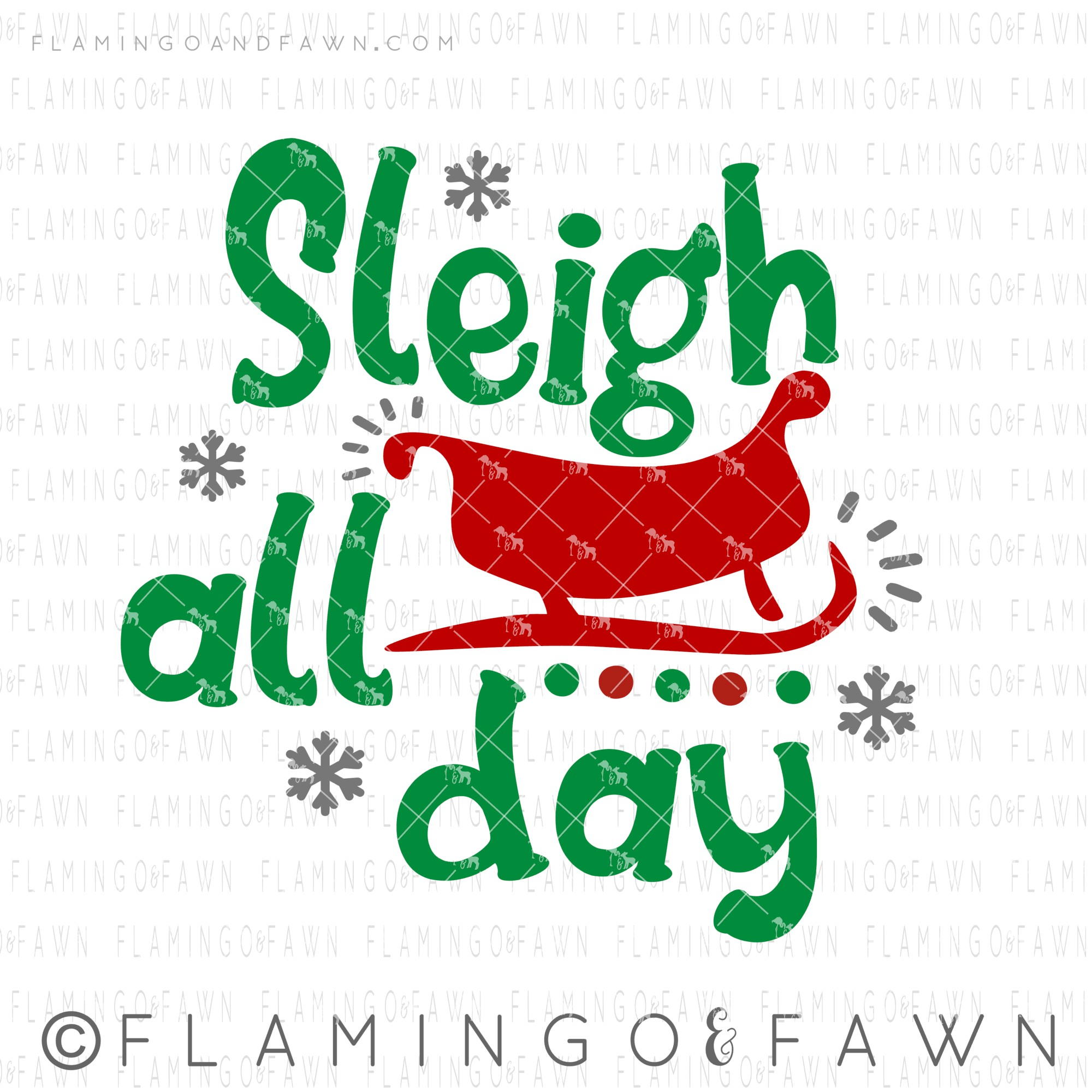 sleigh all day svg