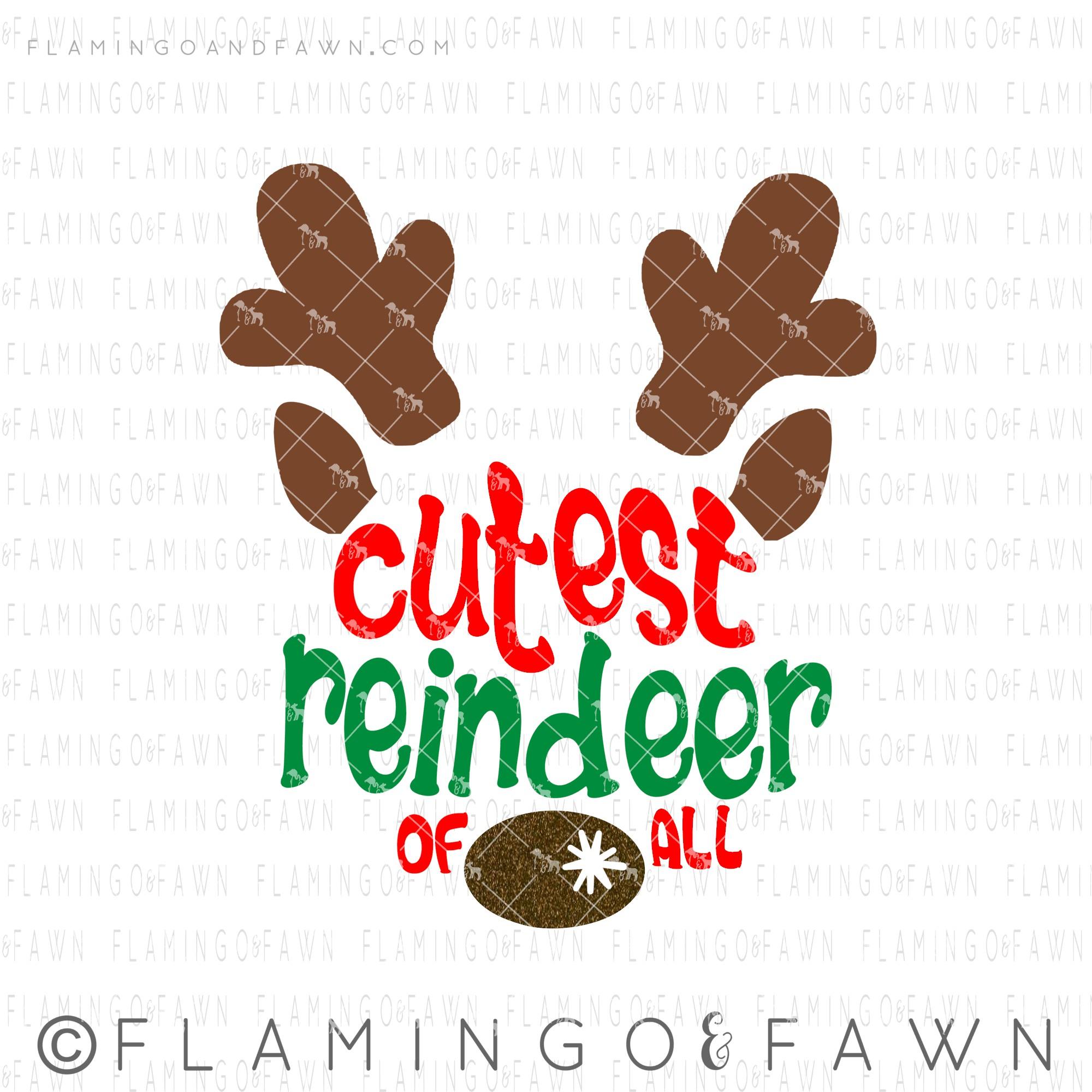christmas reindeer svg