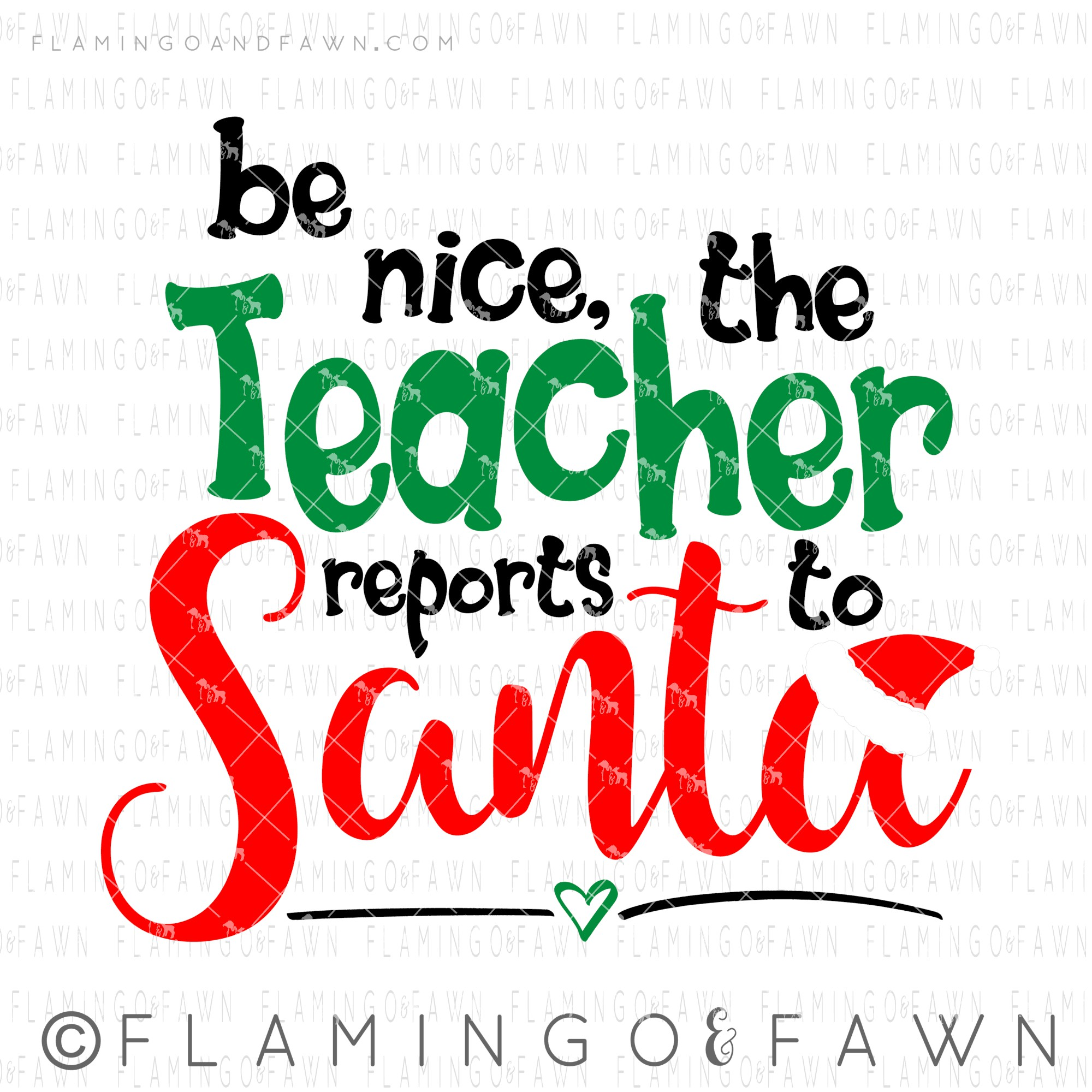 teacher christmas svg
