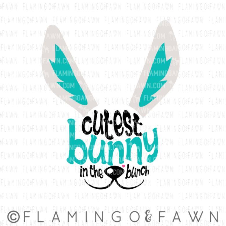 easter bunny girl svg
